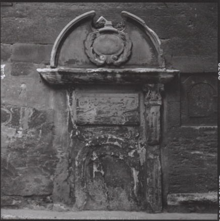 Derelict fountain, Galata, Istanbul, ca. 2000. (Rolleiflex Xenotar f2.8, Ilford HP5, scan of print.)  Click to enlarge.