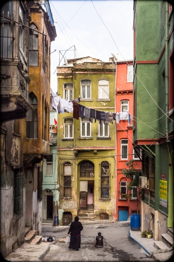 Street scene, Tarlebaşi Quarter, Istanbul. 2012. Fuji X100. Click on image to enlarge.