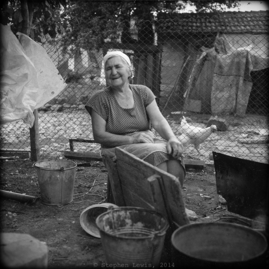 Village of Kamen Bryag, 2005. Rolleiflex Xenotar f2.8, 400 ASA C41 process b/w film, scan of print.