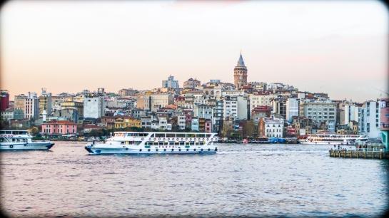 Dusk, Galata, Istanbul, 2013. Panasonic LX3. Click to enlarge.